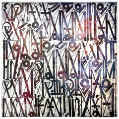 Rare Retna, Large Work on Canvas