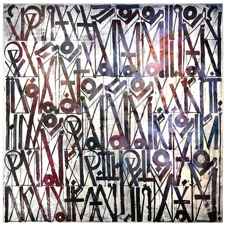 Rare Retna, Large Work on Canvas