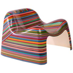 Mauro Oliveira 'Hard Candy' Pin Striped Lounge Chair