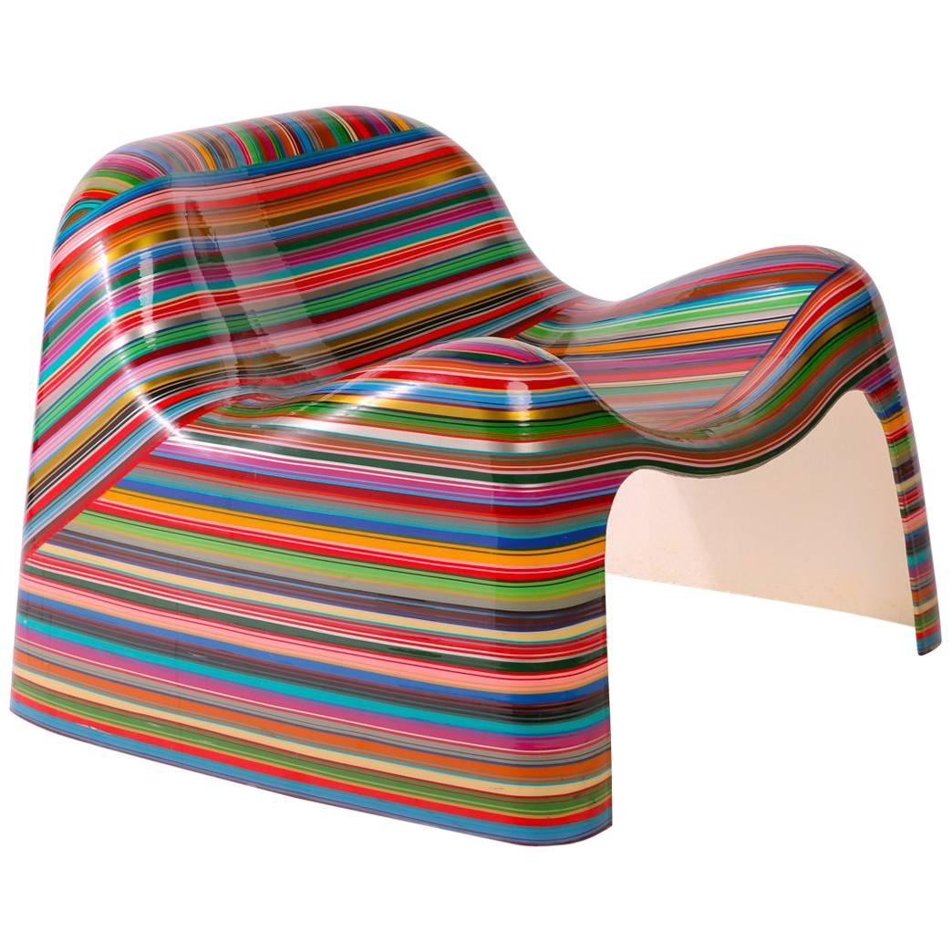 Mauro Oliveira U0027Hard Candyu0027 Pin Striped Lounge Chair ...