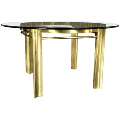 Rare Brass Mastercraft Dining or Game Table
