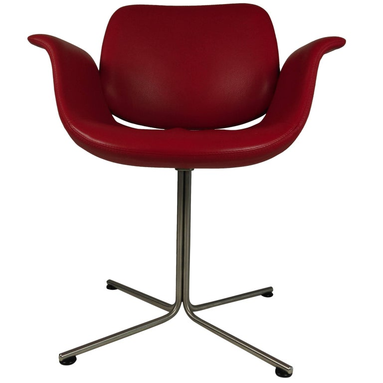 2003 Foersom and Hjorth-Lorenzen Flamingo Armchair in Red Leather For Sale
