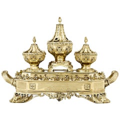 Silver Gilt Inkstand by William Bateman II