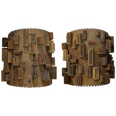 Pair of Assemblage Sconce Covers
