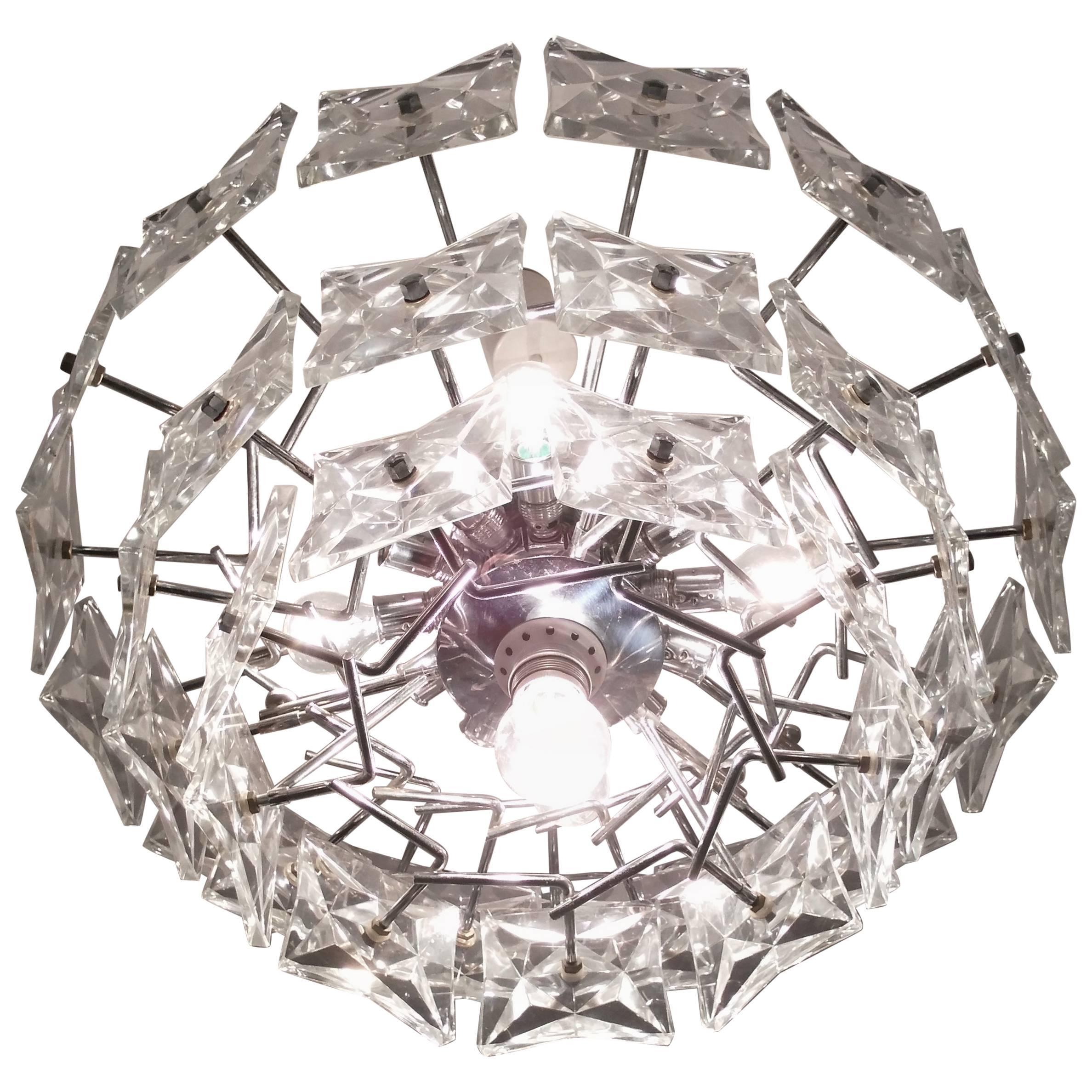 Big Design Glass Chandelier - Kinkeldey