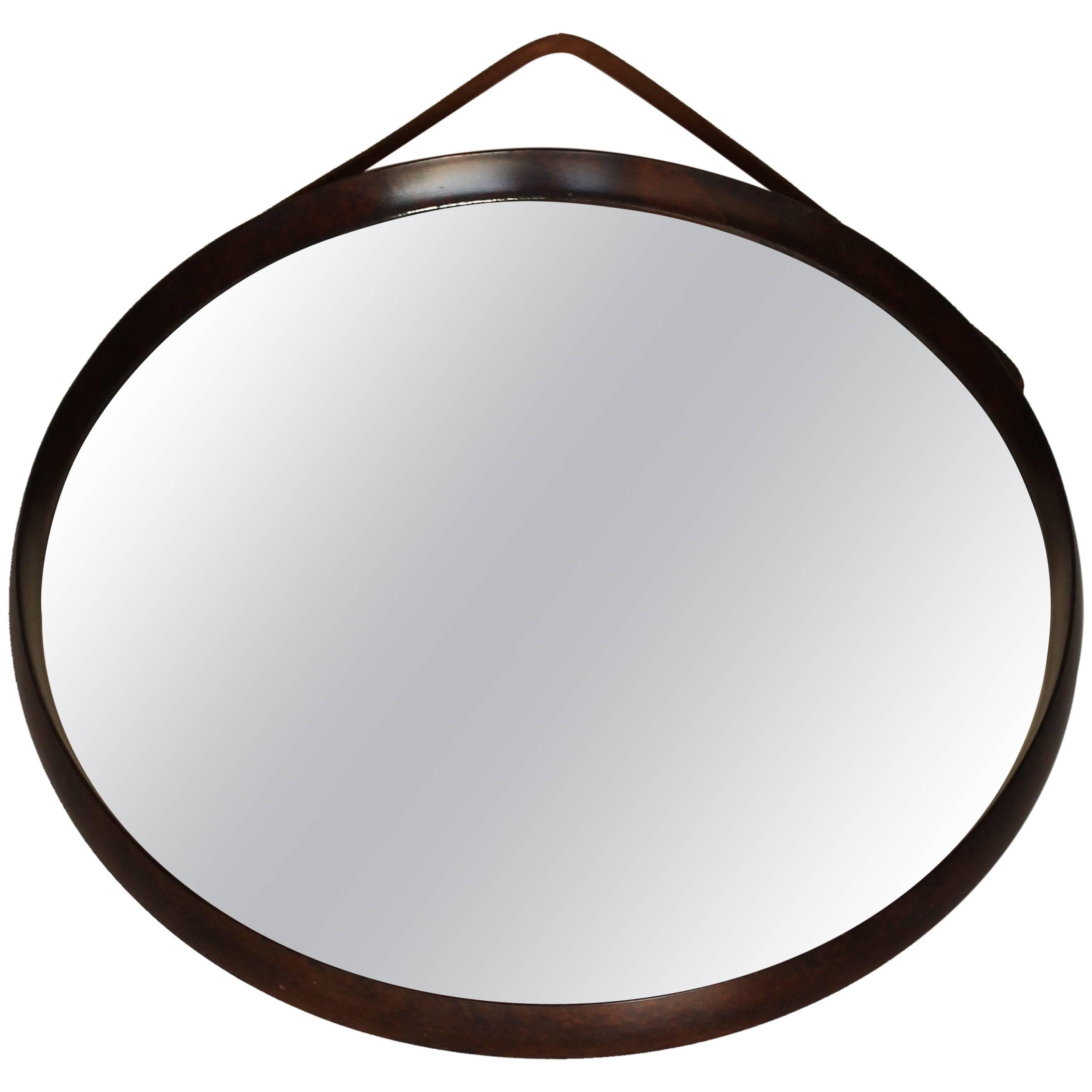 Italian Round Shape Mirror, circa 1950