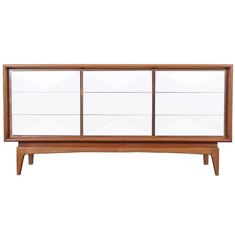 Midcentury Diamond Front Dresser