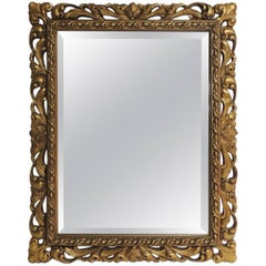 Antique Gilded Wood Frame Wall Mirror