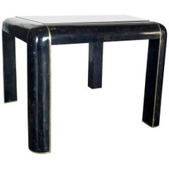 Tesselated Horn Game Table or Small Dining Table by Maitland Smith