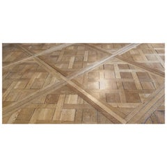 French Flooring Parquet De Versailles Solid Wood Oak from France, 20th Century