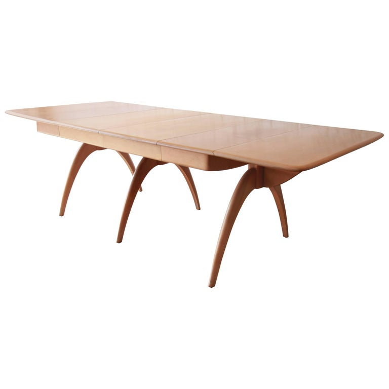 Heywood-Wakefield Mid-Century Modern Extension Wishbone Dining Table