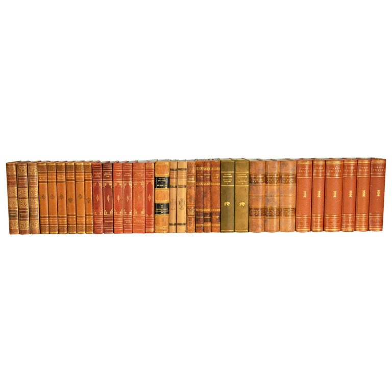 Collection of Leather Bound Books, Series 104