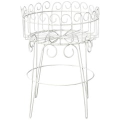 French Wire Basket Jardinière with Hairpin Legs