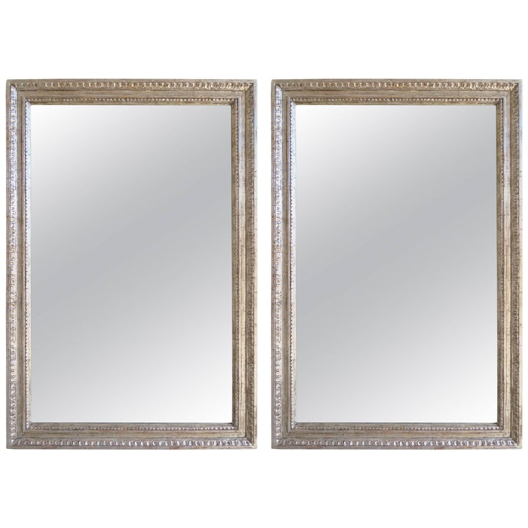 Pair of Italian Style Silver Gilt Mirrors by Melissa Levinson