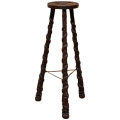 Carved Pedestal Table, India