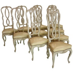 Set of Ten Italian Dining Chairs