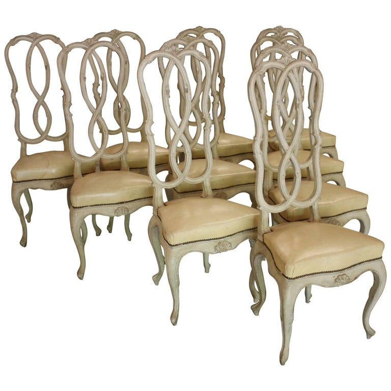 Set of Ten Italian Dining Chairs