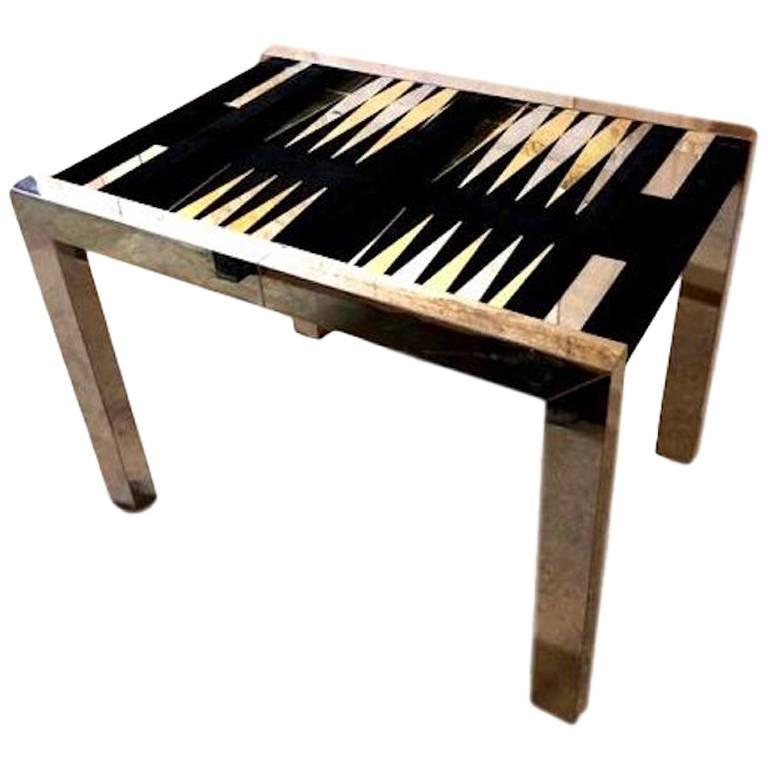 Paul Evans Backgammon Table