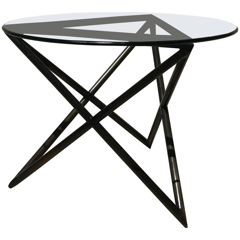 Modern Abstract Bronze Side Table from Steve Chase Estate For Sale