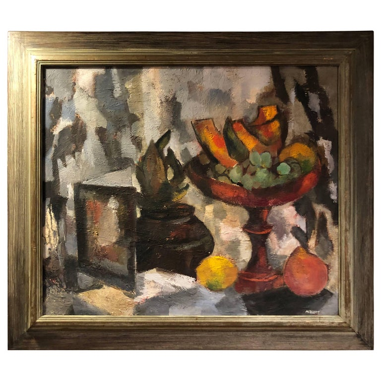 Mid-Century Modern Still Life of Fruit by Scott
