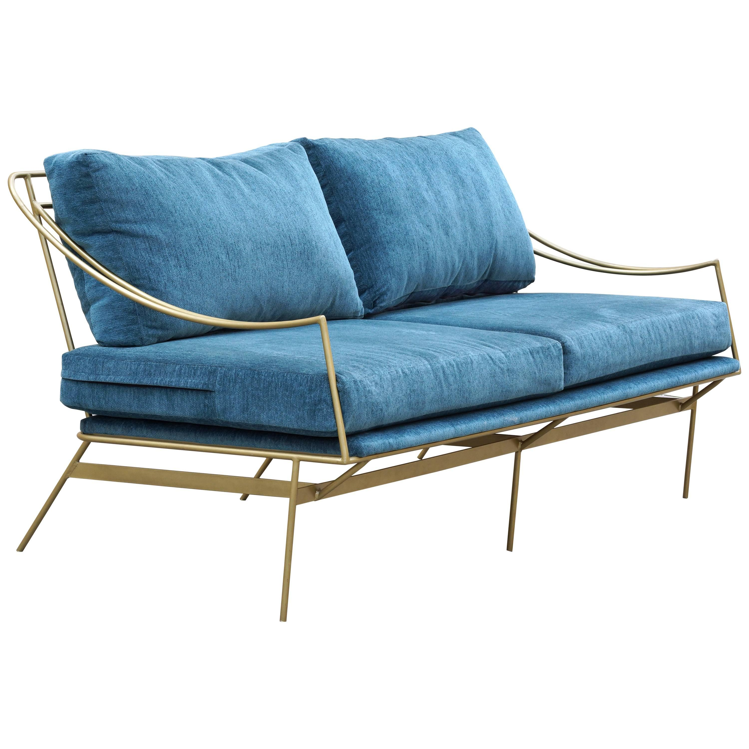 Bon Custom 1960s Inspired Hairpin Sofa By Rehab Vintage Interiors For Sale