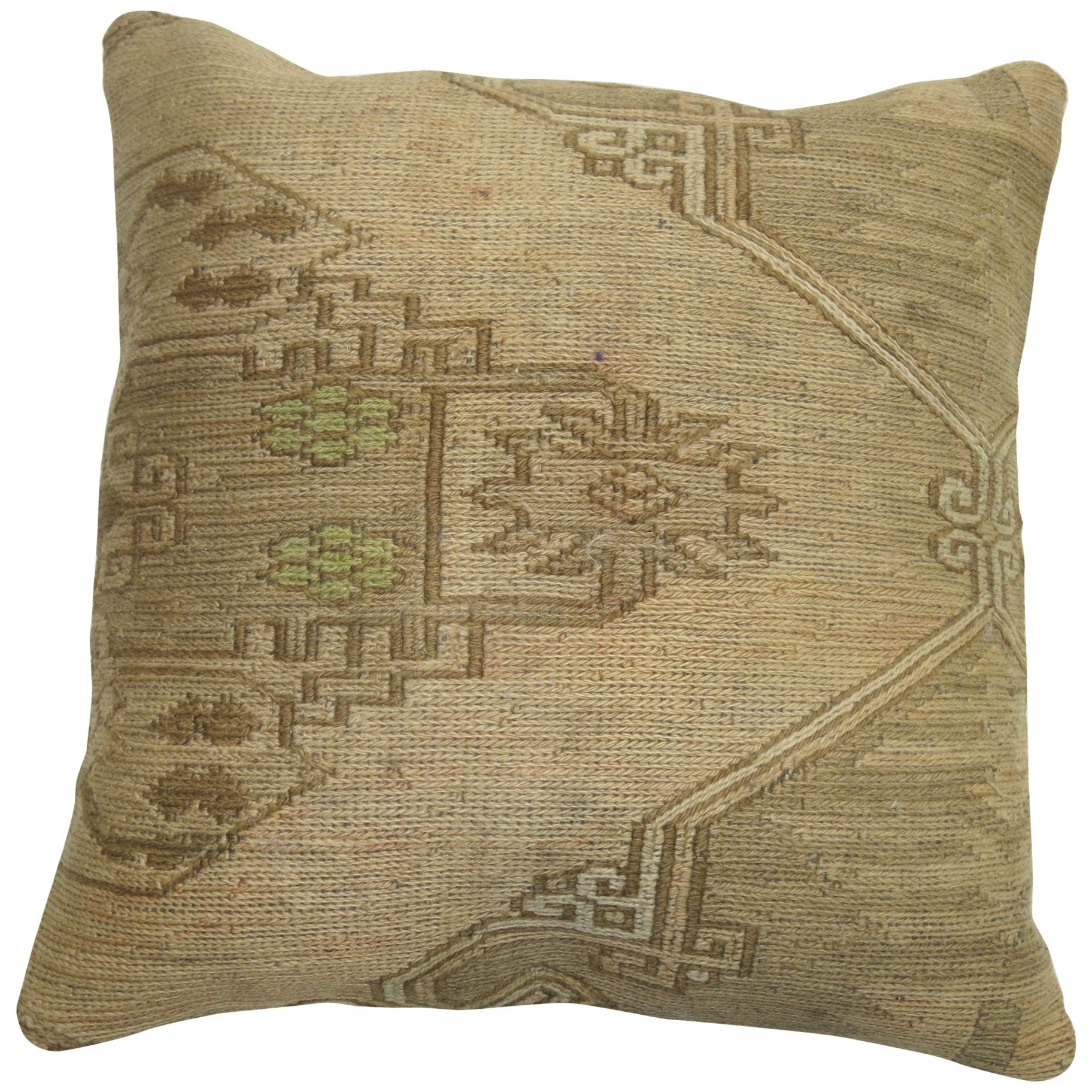 Persian Flat-Weave Rug Pillow