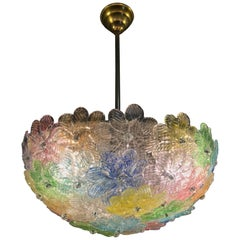 Pendant Chandelier by Barovier & Toso, Murano, 1950s