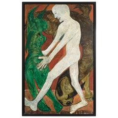 """Jon Serl """"Nude and Dragon"""", 1980"""