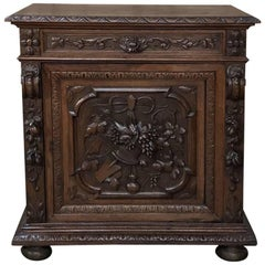 19th Century French Renaissance Hand-Carved Confiturier, Buffet, Cabinet