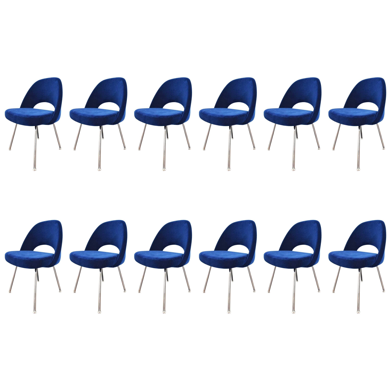 Knoll Eero Saarinen Armless Executive Chair  - 8 Available in Mohair