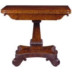 Fine Carved Mahogany Games Table