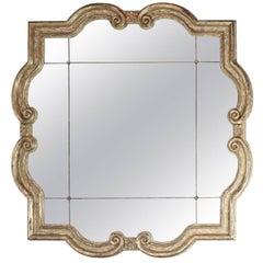 Large Formations Antiqued Quatrefoil Mirror