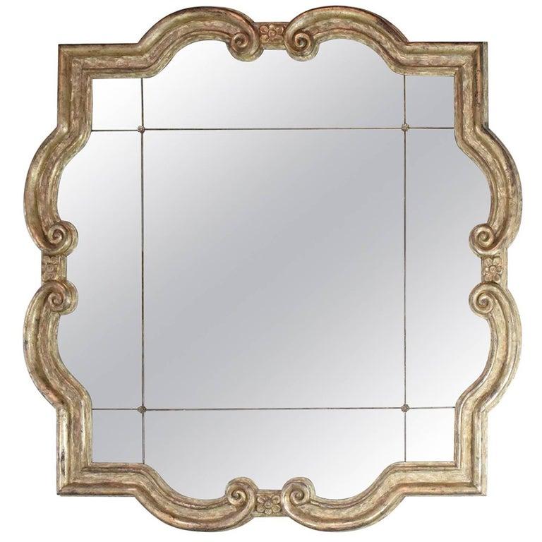 Large Formations Antiqued Quatrefoil Mirror For