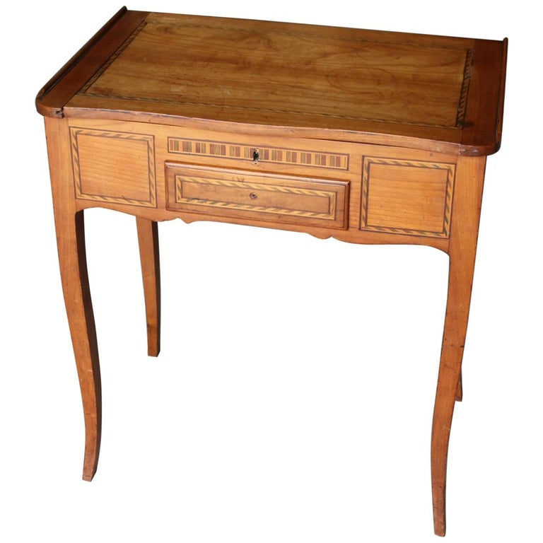 French Walnut Side Table Or Small Desk For