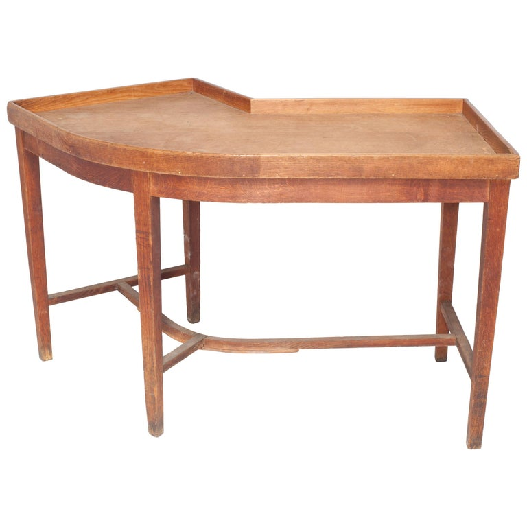 Vintage French Oak Curvilinear Sorting Table