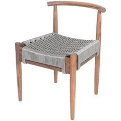 Phloem Studio Harbor Chair, Handmade Modern Walnut and Rope Woven Seat Chair