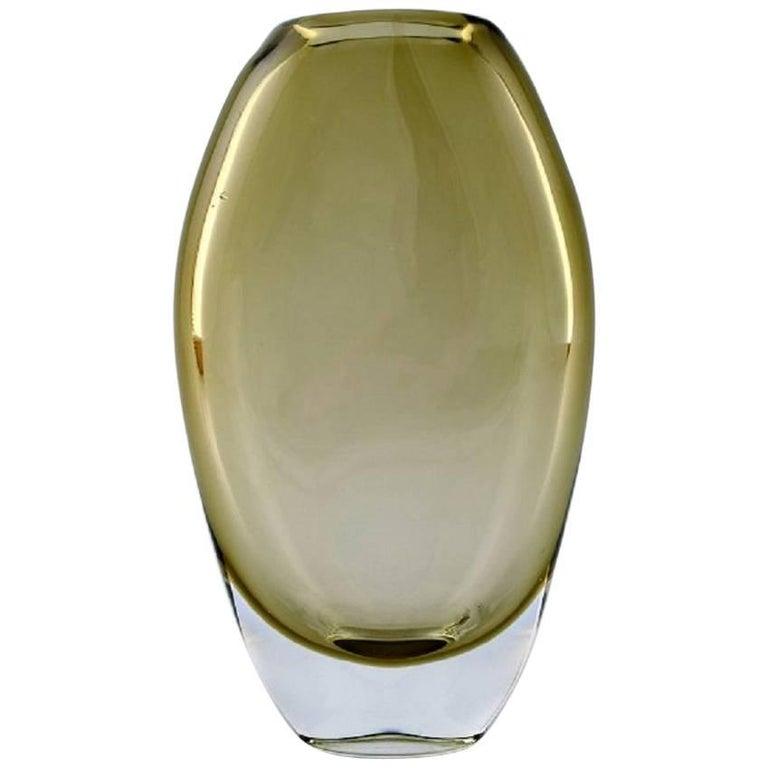 Bengt Orup, Johansfors, Art Glass Vase, Designed in the 1950s-1960s