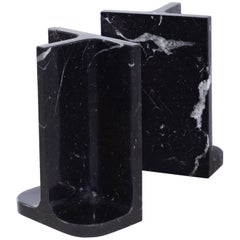 Bookends Charles & Elie in Marquina Marble