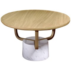 Coffee Table Gretel Indoor in Light Oak and Carrara Marble