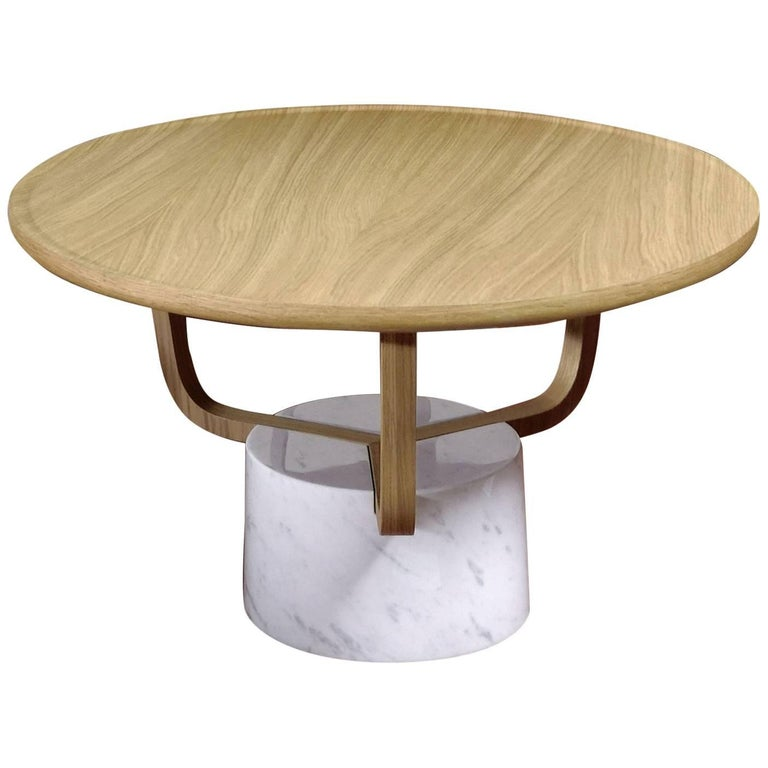 modernist coffee table in carrara marble at 1stdibs. Black Bedroom Furniture Sets. Home Design Ideas