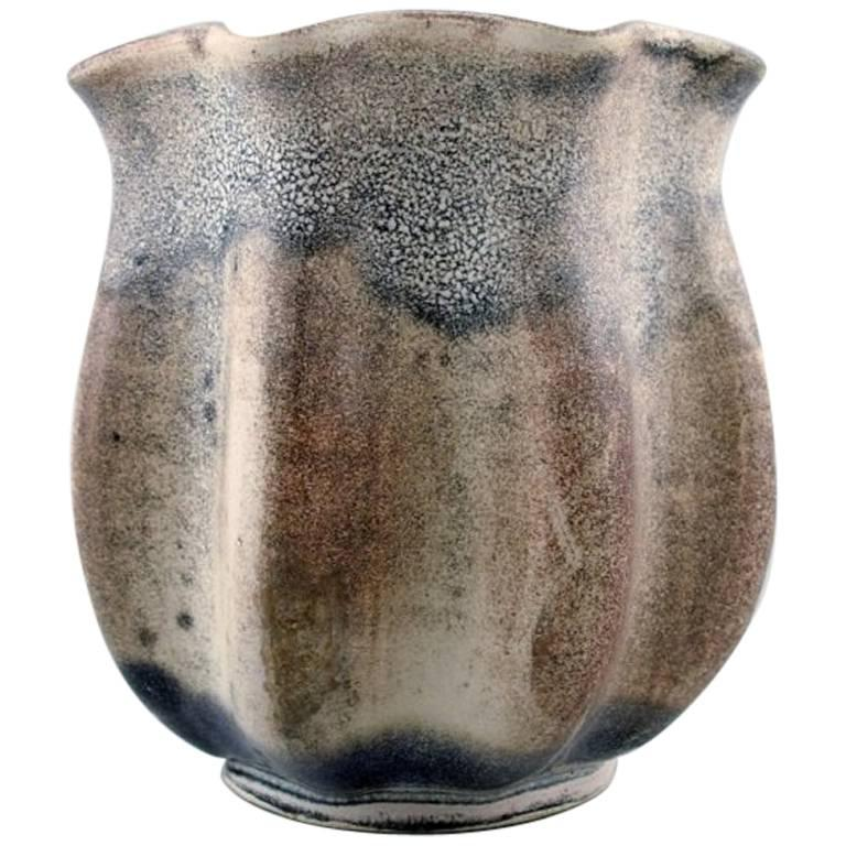 Kähler, Denmark, Glazed Vase, 1940s, Designed by Svend Hammershøi