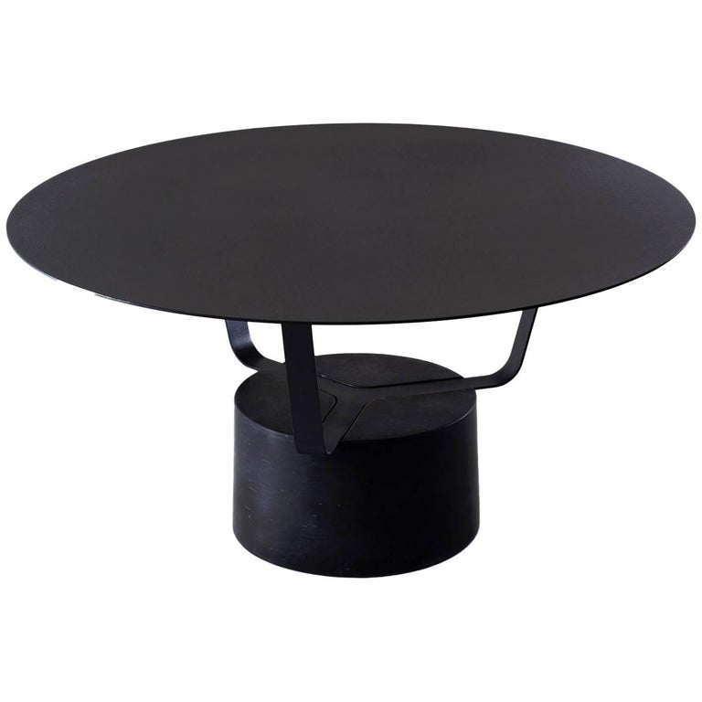 Coffee Table Gretel Outdoor in Anthracite Metal and Slate