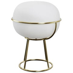 L88 Table Lamp in Opal Glass and Brass