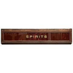 Victorian 'Spirits' Sign
