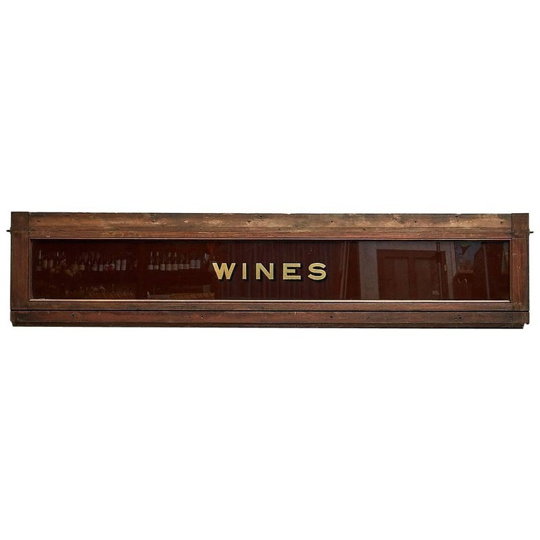 Victorian 'Wines' Sign