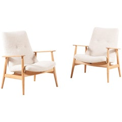 Pierre Guariche, Rare Pair of SK660 Armchairs, 1950s