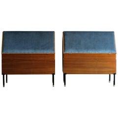 "1950s Ico Parisi Italian Midcentury Design Headboard Cabinets ""Positano"" for MIM"