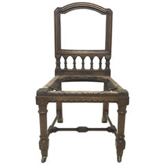 Charles Bevan Attributed, Gothic Revival Oak Desk or Side Chair