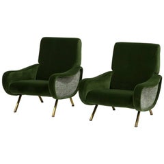 Pair of Marco Zanuso Lady Lounge Chairs, 1950s