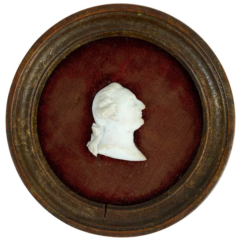 Carved Marble Miniature of King Louis XVI, Early 19th Century
